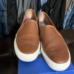 Keds Double Decker Leather Slip-On Sneakers